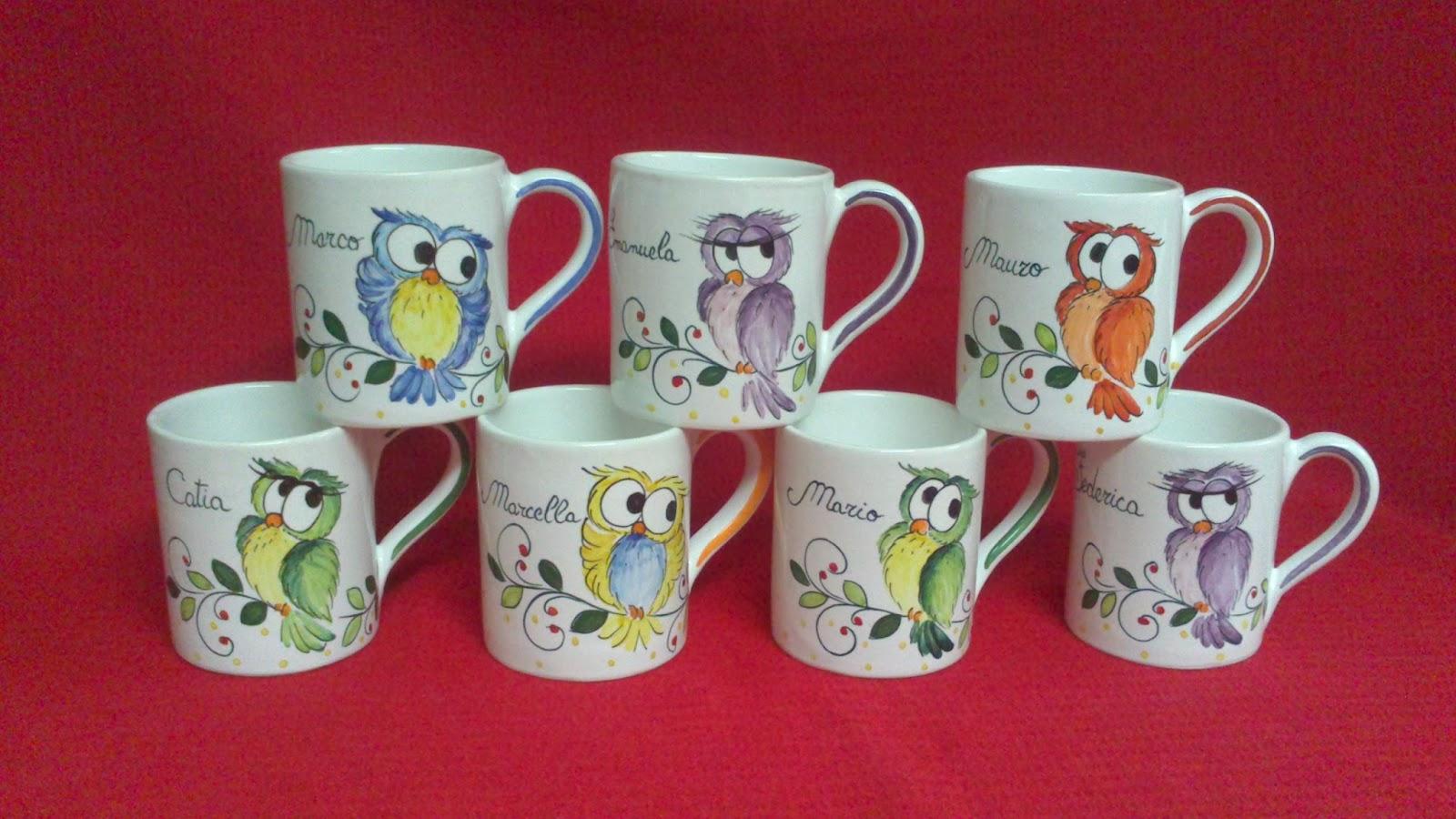 Ceramica come mestiere tazze tipo mug personalizzate decori con