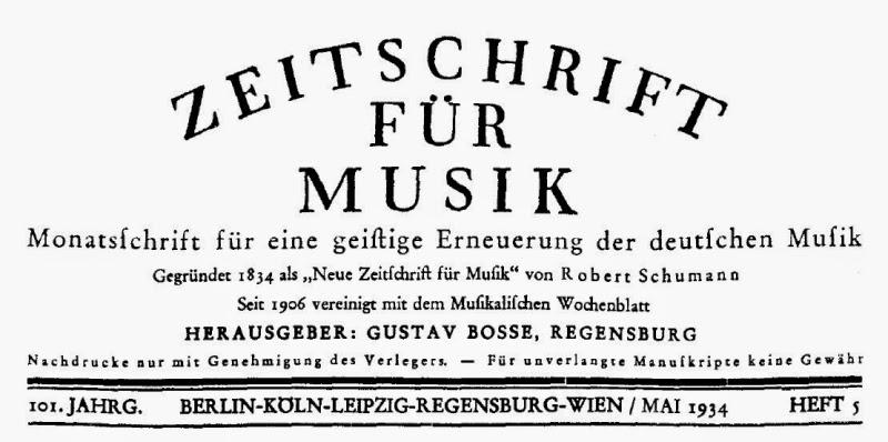 Zeitschrift für Musik. 101. Jahrgang, Heft 5, Mai 1934
