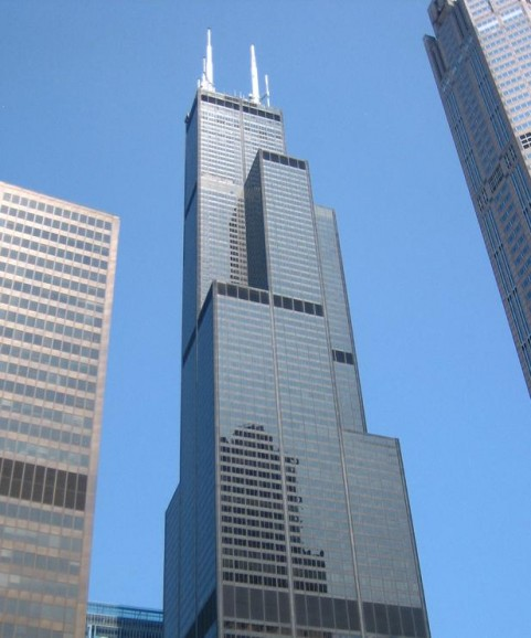 Top 10 largest buildings in the world : Willis Tower Bruce Willis Tower