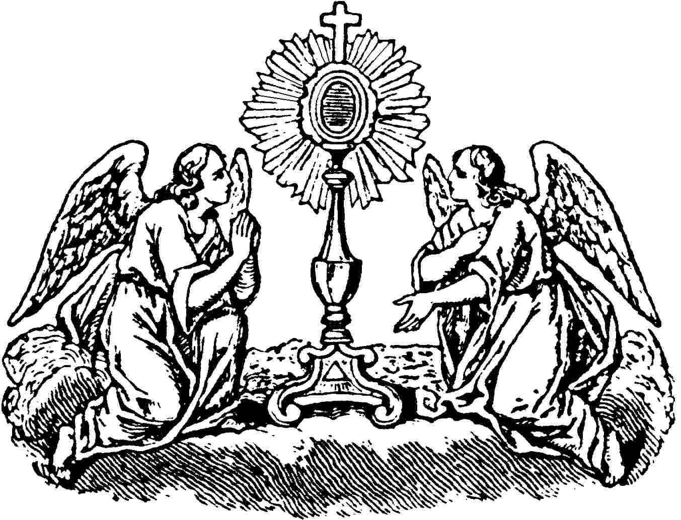 coloring page of catholic mass corpus christi worldwide eucharistic adoration