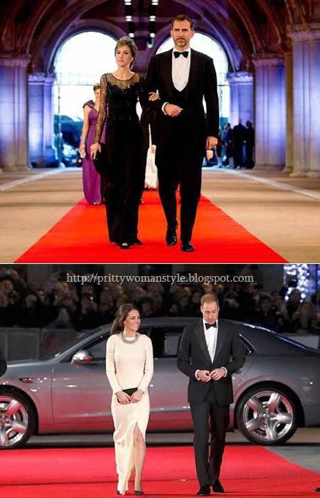 Кралските двойки в класически стил на Червения килим