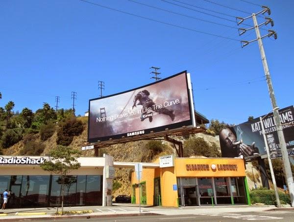 Samsung Curved UHD TV billboard Sunset Boulevard