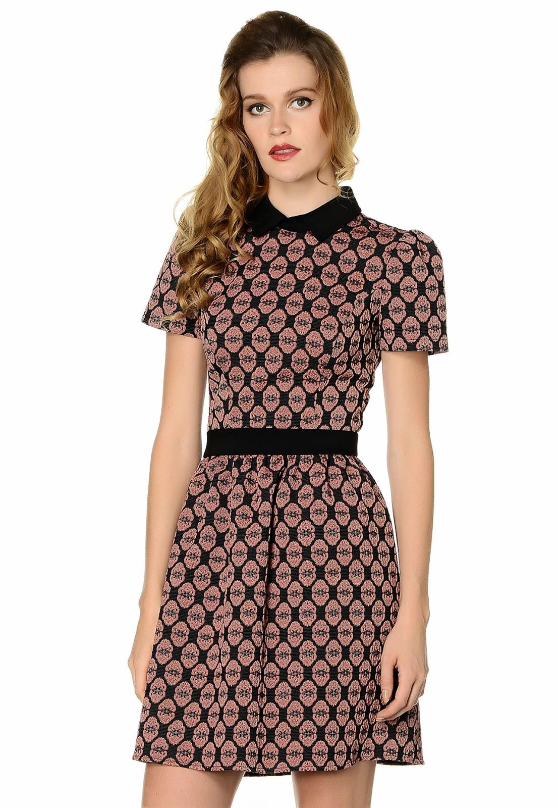 desenli elbise, kemerli elbise, retro elbise, kısa elbise, 2015 elbise modelleri, adil ışık elbise