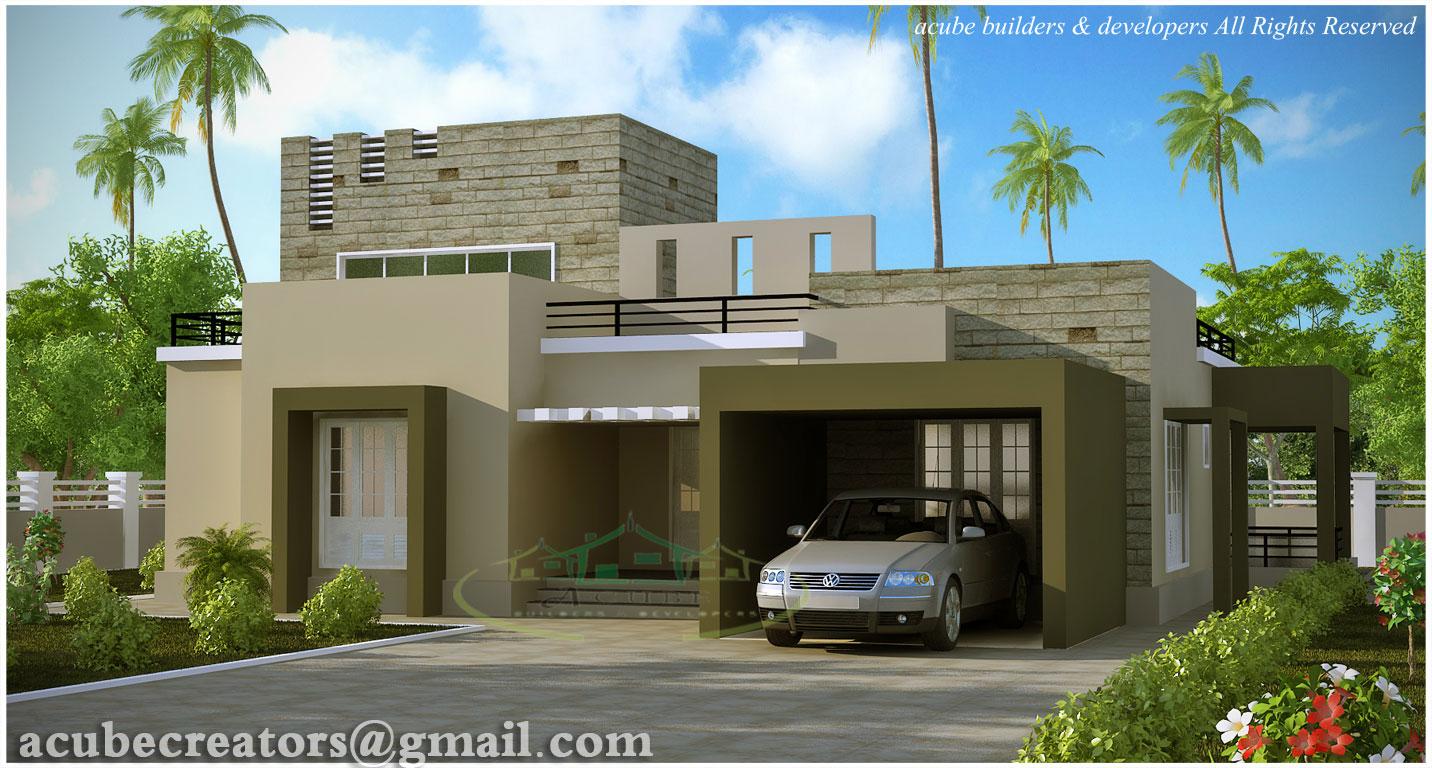 Modern contemporary villa 2476 sq ft plan 130 for Plan villa moderne