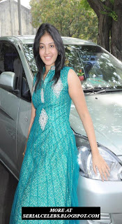 Anjali in Green chudidar