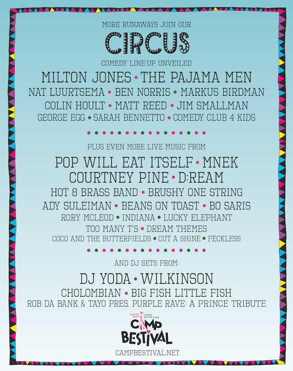 Camp Bestival 2014 Comedy Line Up