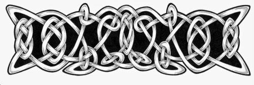 Armband Celtic knots tattoo stencil