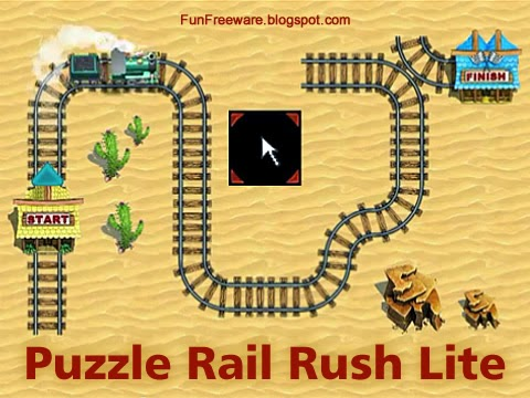 Puzzlle Rail Rush Lite Game Image