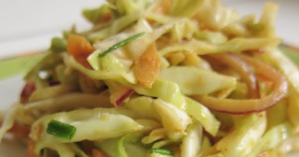 Arctic Garden Studio: Asian Cole Slaw with Wasabi Dressing