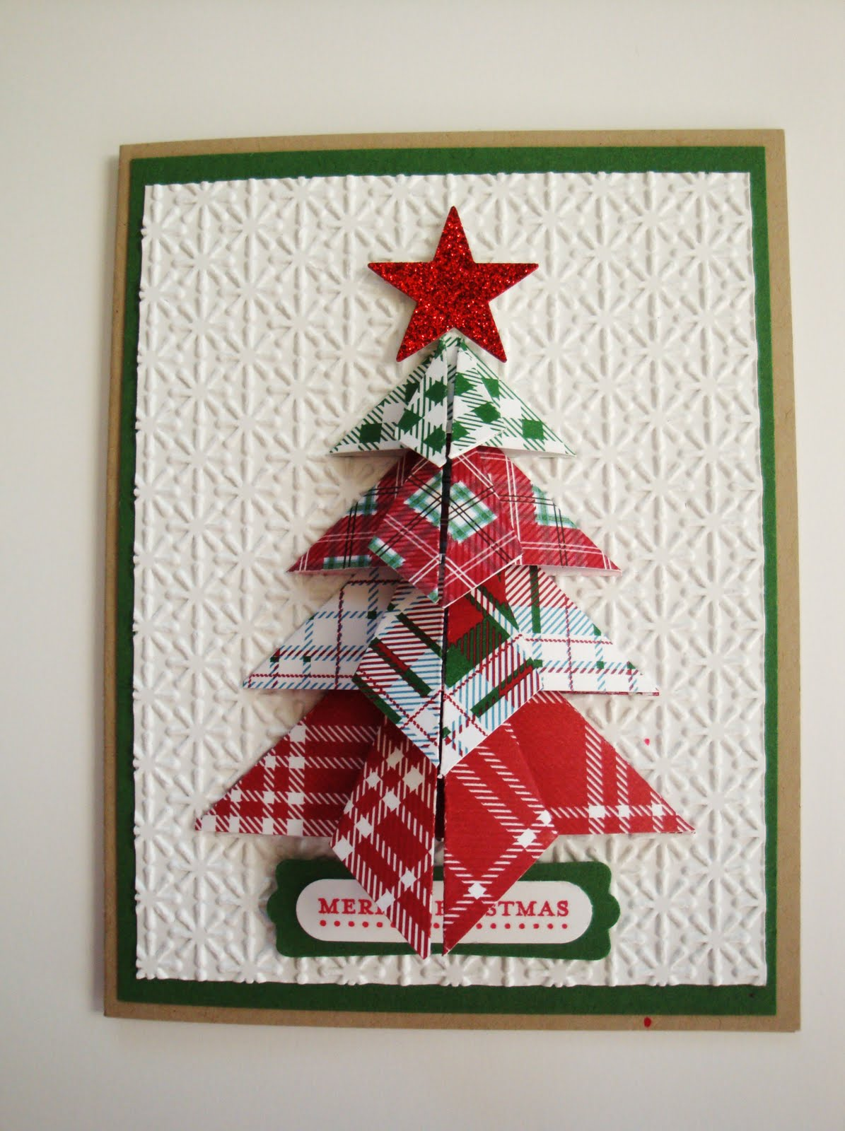 Origami gift card holder christmas