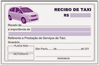 Imprimir recibo corrida táxi