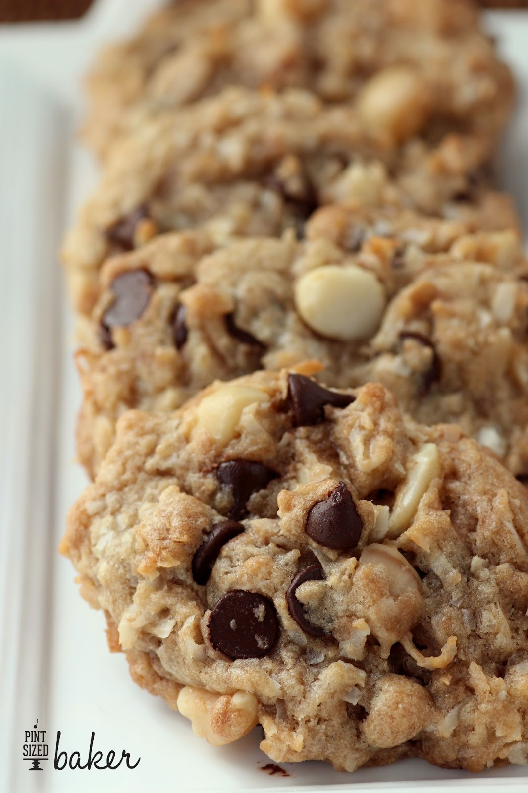 Macadamia Nut Chocolate Chip Cookies with Coconut - Pint Sized Baker