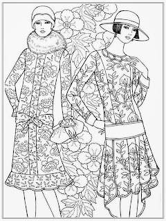 Modist Women Free Adult Coloring Pages
