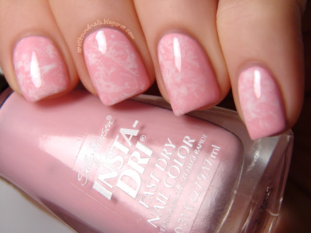 nails nailart nail art polish mani manicure Spellbound Lacquer holiday Valentine's Day Valentine Valentines tutorial Sally Hansen Pink Blink white saran wrap tutorial video