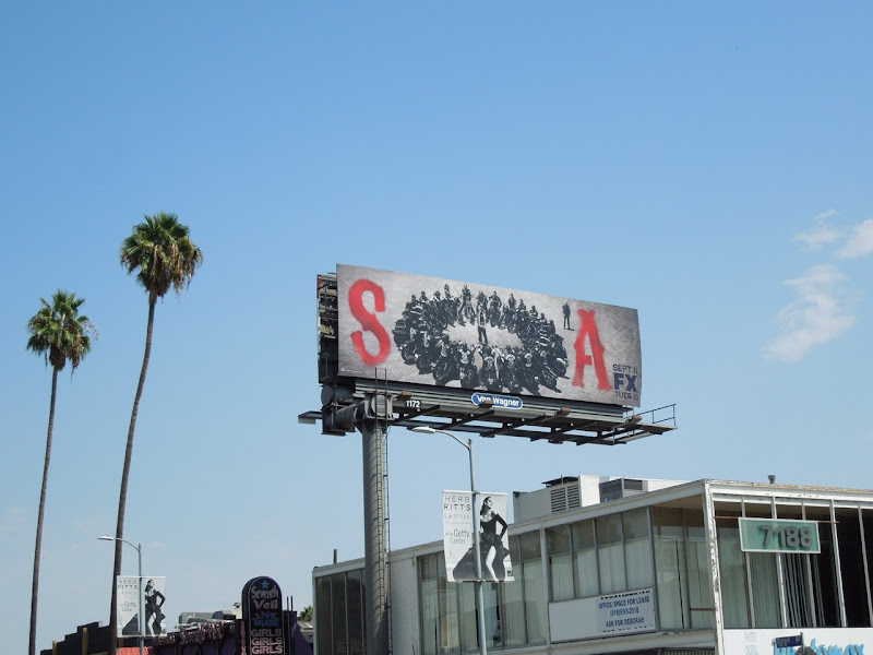 Sons Anarchy season 5 FX billboard