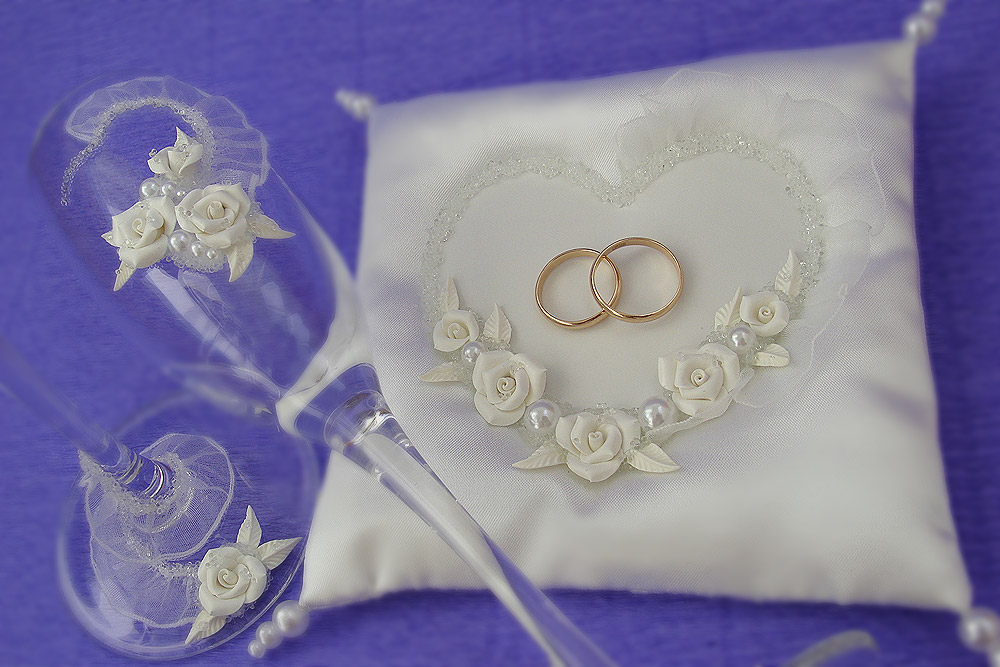 Сделаем свадебные подушечки