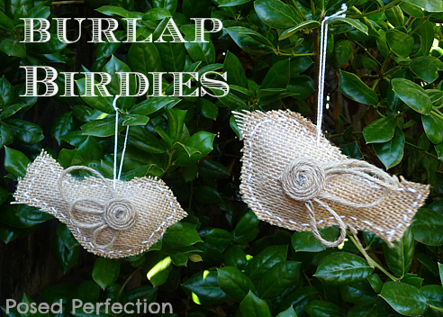 "alt=""burlap bird ornaments"""