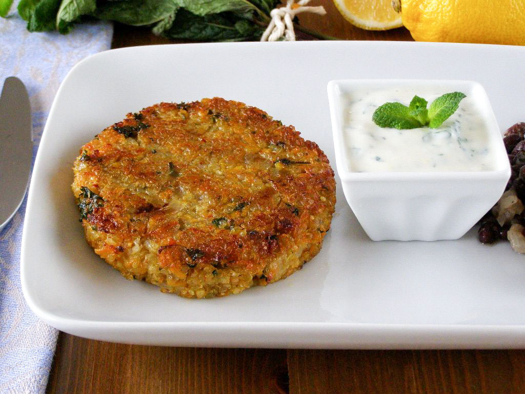 Spiced Quinoa and Sweet Potato Cakes - makes 4 large cakes