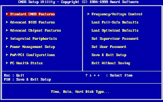 Tampilan BIOS dari AWARD