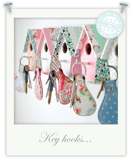 Bird house key hooks by Torie Jayne