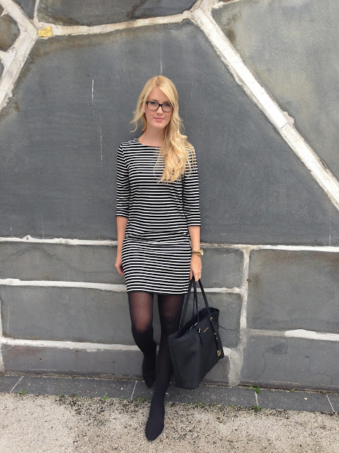 TheBlondeLion Look Thoughts Striped Dress Business Look http://www.theblondelion.com/2015/06/look-thoughts-striped-dress-business-look.html