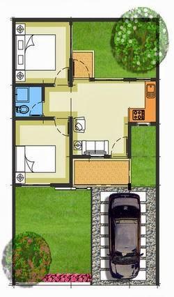 Gambar Desain Rumah Minimalis Foto Sketsa Tampak Atas
