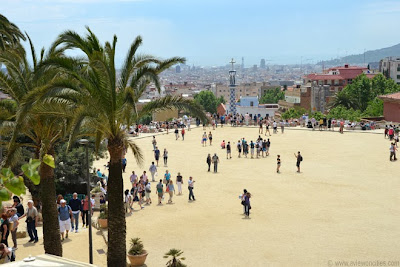 The main square of the Güell Park