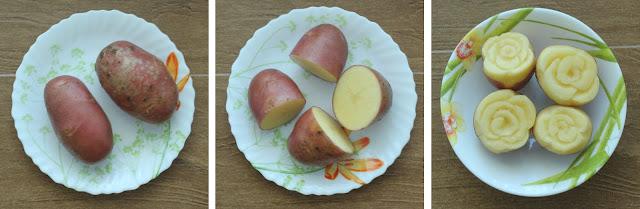 Как сделать розы из картошек 264