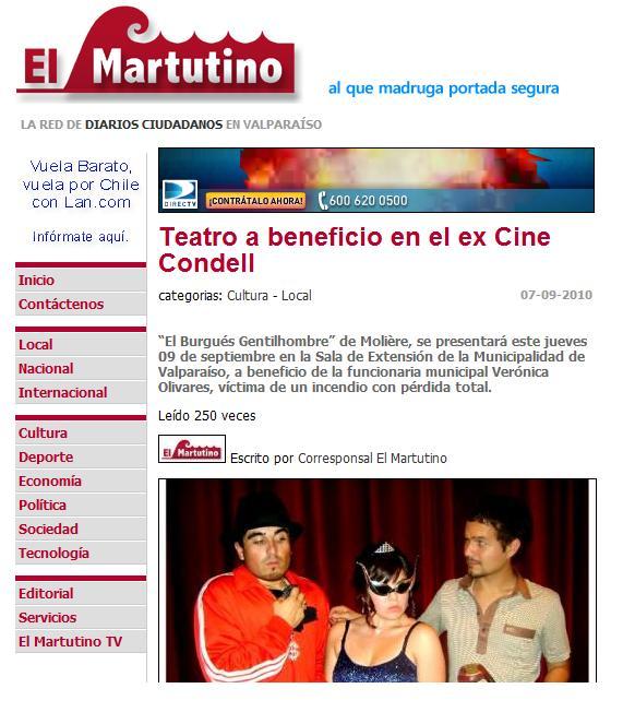 Prensa Teatro Condell