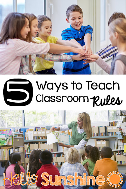 Back to School:  5 Ways to Teach Classroom Rules