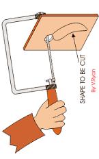 cara penggunaan coping saw