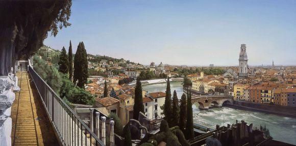 nathan welsh pinturas hiper realistas cidades cenários urbanos