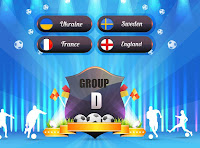 Euro 2012 logo and group D