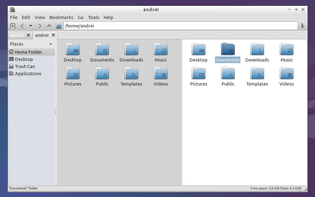 Lubuntu 14.04 LTS dual pane