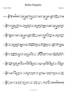 Partitura de Bailar Pegados para Flauta Sergio Dalma Flute Sheet Music Bailar Pegados. Para tocar con tu instrumento y la música original de la canción