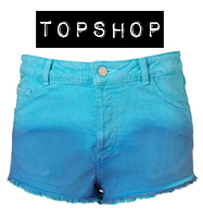 topshop ombre denim shorts