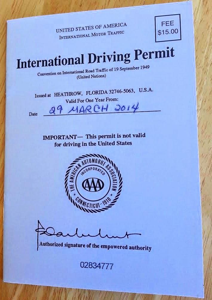 trip report: santorini - getting that international driver's license