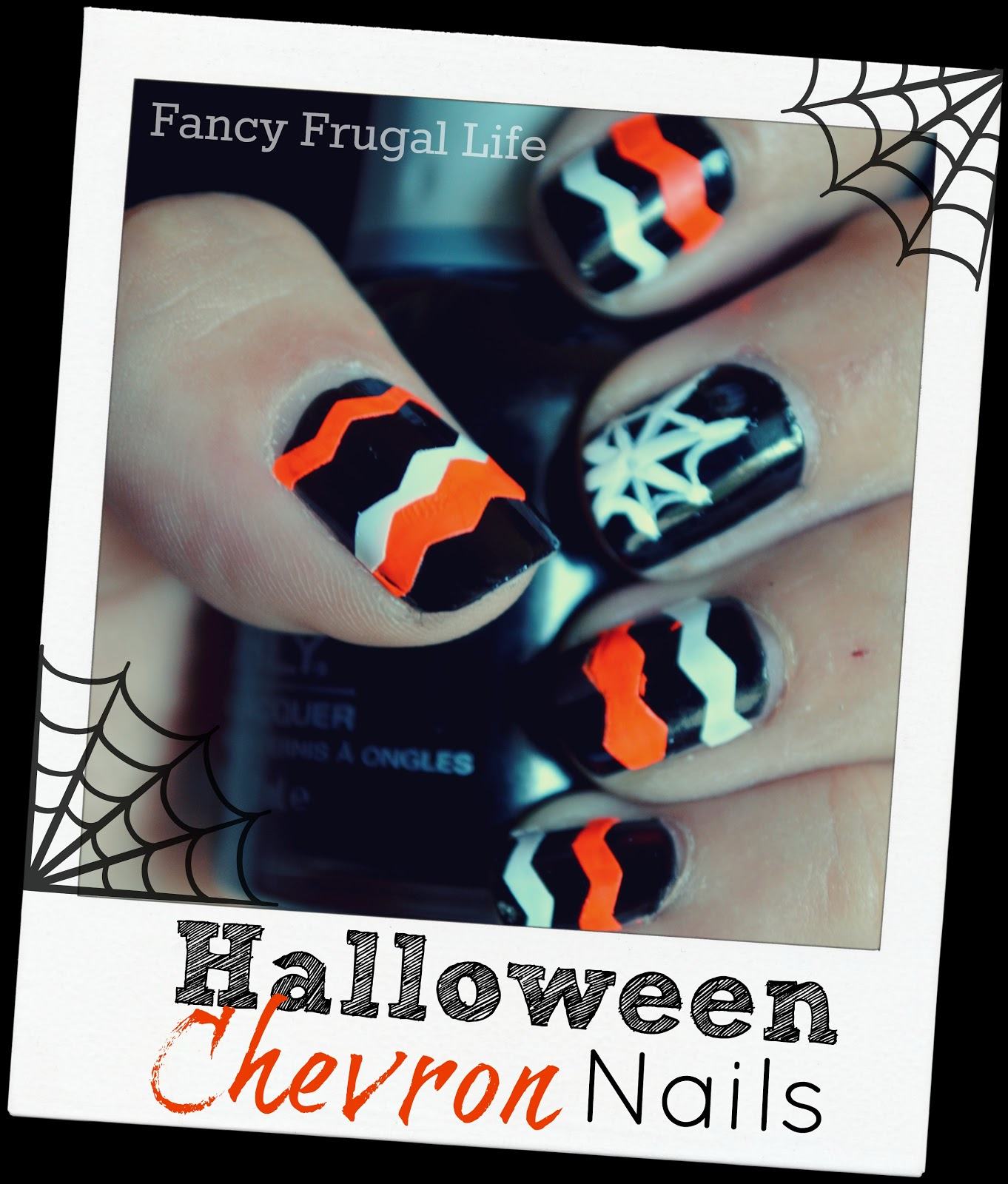 Diy halloween chevron nails easy halloween manicure diy halloween chevron nails easy halloween manicure solutioingenieria Image collections