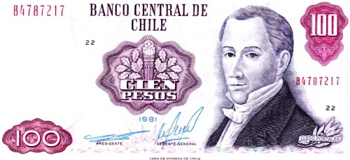 Diego Portales en billete chileno