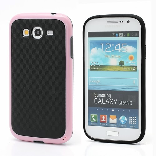 3D Cube TPU Case for Samsung Galaxy Grand I9080 Grand Duos I9082 - Black / Pink