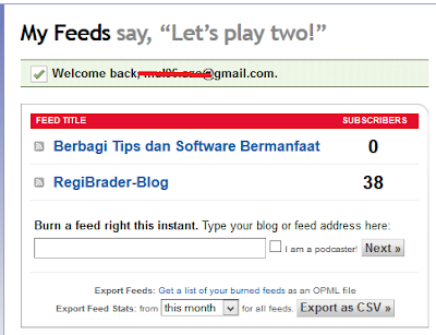 Cara Memasang Widget Readers by Feedburner di Blog