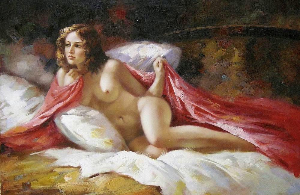 Nude women as greek gods — 2