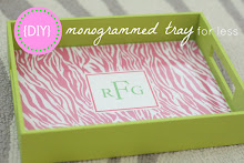 {Monogrammed Tray}