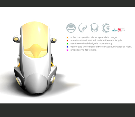 Protector Three Wheeled Motorcycle For Women