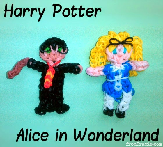 Rainbow Loom Harry Potter Alice In Wonderland