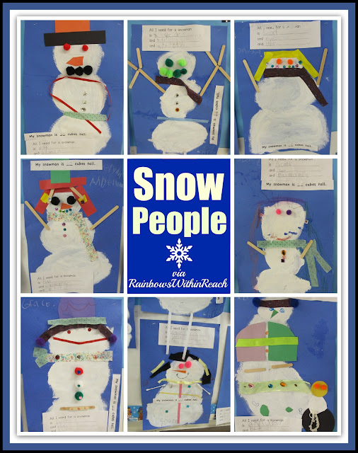 photo of: Snow People and Math via Snowman RoundUP at RainbowsWithinReach