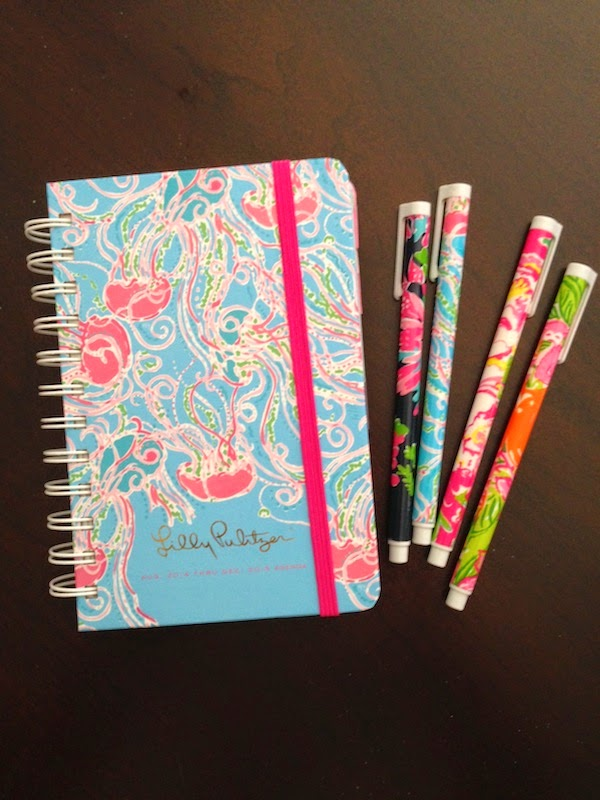 2014-2015 Lilly Pulitzer Agenda Review planner school sorority