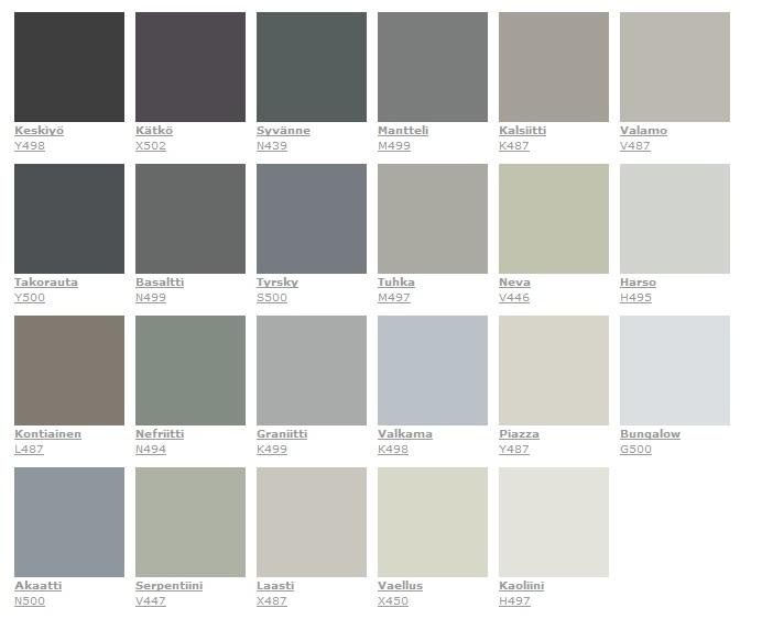 Sisämaalit värikartta