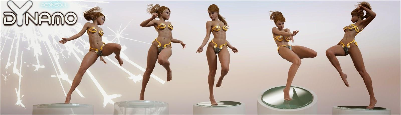 Dynamo Poses pour Genesis 2 Femme