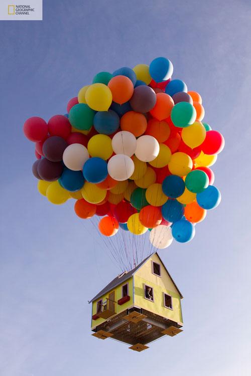 Casa en el aire con Globos
